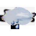 Prevažne zamračené, občasný dážď