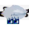 Zamračené, dážď