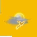 Prevažne oblačno, možnosť prehánok alebo búrok